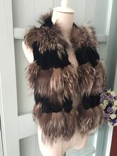 100% real lady real fox fur collar scarf natural fur collar silver fox fur with rex rabbit fur neck warmer for women winter