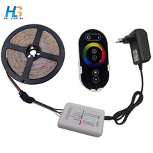 HBL RGB Led Strip Light 2835 5M 10M 15M 20M RGB Led Tape Non Waterproof Flexible RGB Led Ribbon+Remote+DC 12V Adapter Full Set