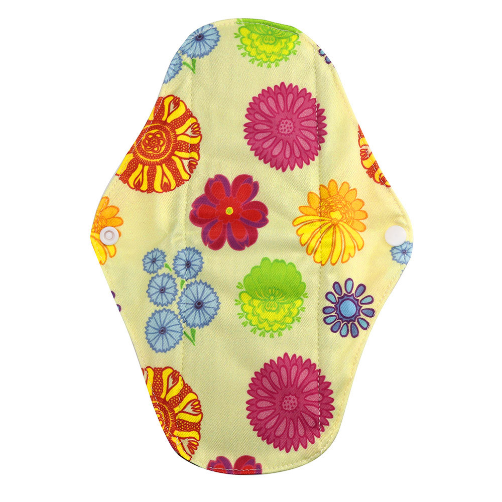 1pc New Arrival Women's Reusable Bamboo Cloth Washable Menstrual Pad Mama Sanitary Towel Pad Pretty Feminine Hygiene Product 30