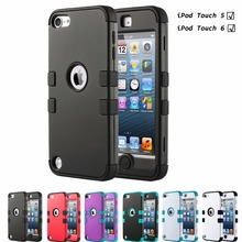 Anti-slip iPod Touch 5 Case Hybrid Dust Scratch Shock Resistance Hard PC+Soft Silicone Cover for iPod touch 6 Case