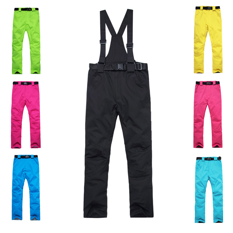 Outdoor Sport Windproof Waterproof Soft Climbing Ski Pants Unisex Winter Warm
