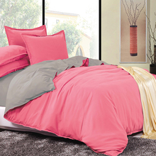 LILIYA New Bedding Set Colorful Bedding Sets Warm Bedding Sets by Solid Color Pillow Case Sheet Quilt Cover#S-