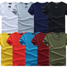 Men's Tops Tees 2016 summer new style O-Neck Solid  short sleeve t shirt men fashion trends Leisure t-shirt size 5XL