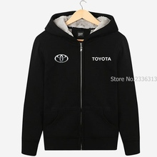 Winter thicken Fleece Toyota car sweatshirt overalls 4S shop coats men and women clothes work clothes autumn and winter jacket