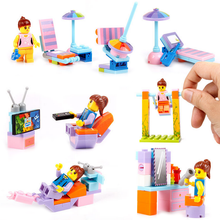 4Pcs/Set Creative DIY Assembling ABS Girls Kids Handmade Building Models Blocks Educational Intelligence Children Toys Gifts