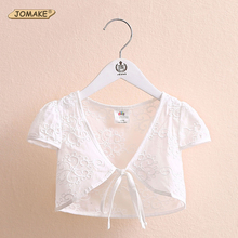 Lovely Lace Jacket Girls Clothes Design Summer Baby Girl Coat Short-sleeve Kids Cardigan Children Cape Toddler Girl Clothing
