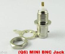 6pcs Brass Mini BNC Female Jack Panel Mount Connectors with nut and solder cup
