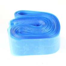 100pcs Disposable Hygiene Tattoo Clip Cord Bag Plastic Blue Tattoo Machine Clip Cord Sleeve Cover Bag Size 79 x 5 CM