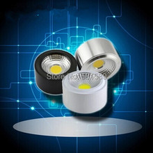 10PCS 5W 7w Super Bright COB Surface Mounted led down light  AC85V-265V 2 years warranty Open Mounted led downlight