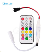 Wholesale 21 key ws2812 IR controller,DC12v for led strip WS2812B/WS2811/TM1804/TM1809/INK1003,63 kinds of effects,1024 Pixel(China)