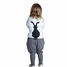 Brand Design Infant Girls Clothing Sets Cute Little Bunny Embroidered Sweater Suits Toddler Kids Baby Boy Clothes Set 1~5T
