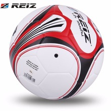 REIZ Football Soccer Ball 20CM Size 4 Circumference White & Black Red Pattern Football Balls Anti-Slip For Training Competition