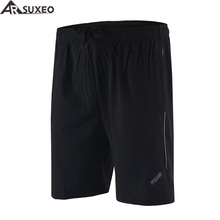 "ARSUXEO 2017 Mens Outdoor Sports 6"" Running Shorts Training Jogging Soccer Tennis Workout GYM Shorts Quick Dry Pockets B163(China)"