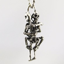 1PC Hyperbole Stylist Men Infinity Tibet Stainless Steel Skull Pendant Chain Necklace H5065 P
