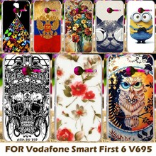 Top Selling Painting Design Hard Plastic Case For Vodafone Smart First 6 V695 4.0 Inch Cell Phone Cover Protective Sleeve