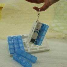 Detachable 28 Sets Digital Pill Box Timer 4*7 Days Free Assembly Pill Box With Alarm, 7 Days Pillbox One Week Pill Reminder