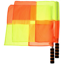 gohantee 2pcs Soccer Referee Flag The World Cup Fair Play Use Sports Match Football Linesman Flags Referee Equipment Accessories