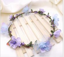 Korea fashion bride bridesmaid garland take pictures headwear seaside wedding photography hair head hoop hair jewelry 4 color