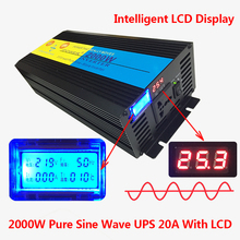 2000W/4000W(Peak) uninterruptible power supply Pure Sine Wave Power Inverter +Charger & UPS DC 24V to AC 220V LED Display