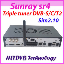 Sunray sr4 800se full hd satellite tv receiver wifi internal triple DVB-S2/C/T2 tuner sim2.10 REV.D11 decoder DHL free shipping