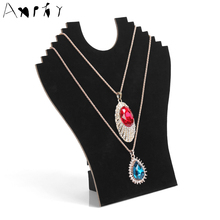 Human shape jewelry holder necklace organizer jewelry storage necklace organizing decoration of ornaments display board A49