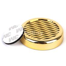 New Hot Sale Fashion Golden High Quality Cigar Humidifier Round Portable for Travel Smoking Accessories Free Shipping