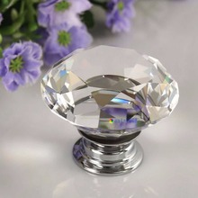10pc Crystal Glass Door Knobs Drawer Cabinet Furniture Kitchen Handle Home Decor(China)