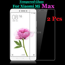 "2 Pcs/Lot For Mi Max Cell Phone Tempered Glass 9H 2.5D Premium Screen Protector Front Film For Xiaomi Max Mimax 6.44"" In Stock"