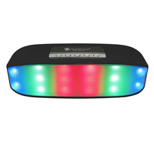 Portable Bluetooth Speakers Pulse Colorful LED Light Stereo Music Sound Box Dual Magnetic Loudspeakers Support U Disk TF Card(China)