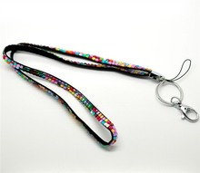 Newest 1pcs Multi Color Bling Crystal Rhinestone Custom Neck Lanyard Strap For ID Card Name Badge Holder(China)