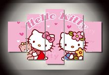 Framed Printed Cartoon hello kitty Group Painting wall art children's room decor print poster picture canvas/dd181