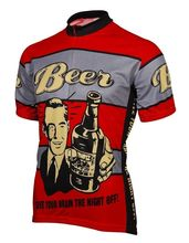 Red Beer Give Your Brain The Night Off Cycling Clothing MTB Bike Jersey 17