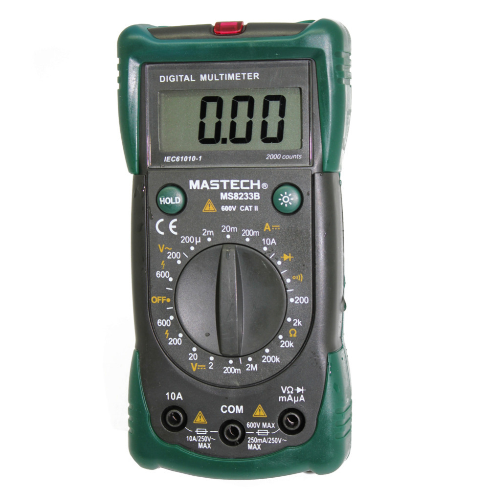 MASTECH MS8233B Digital Multimeter + non-contact AC Voltage Detector diode 19 range<br><br>Aliexpress