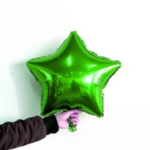 3pcs/lot 18inch Green Stars foil balloon green Birthday Decorative Toys party supplies globos metalic helium balloon inflatable