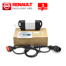 3PCS/LOT Latest V153 Version for Renault CAN Clip for Renault Diagnostic tool obd2 Interface with Multi-language DHL free(China)