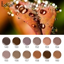UV Painting Nail Gel Varnish Semi Permanent 6ML UV Nail Gel Polish Soak OffGel Lacquer DIY Nail Art Design Brown Series 149-160(China)