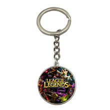 Wholesale Lea gue Silver Keychain High Quality Cartoon Game Anime Cheap Keychain Drop Shipping Fast Delivery