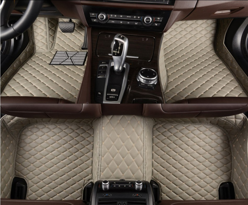 For GEELY EMGRAND EC7 2009-2012 Car Floor Mats Foot Carpets Step Mat Cargo Liner HIGH QUALITY Embroidery Soft Leather Mat<br><br>Aliexpress