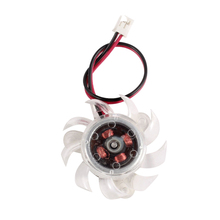 35mm Clear Plastic VGA Graphic Card Cooling Fan Cooler for PC Computer