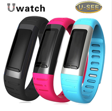 Hot U9 Bluetooth Smart bracelet U See UWatch Men Women Sports Watch Wrist For Samsung Galaxy S5 Android Mobile Phone Pedometer(China)