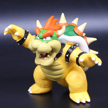 TraVelMall PVC Super Mario Figurines mini action figure collection toys, 4 inch (10cm) Kuba Bowser(China)