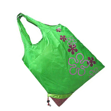 Strawberry pattern foldable reusable environment protection shopping bag green(China)