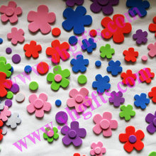 200PCS/LOT.Flower stickers,Kids toy.Scrapbooking kit.Early educational DIY.Cheap.kindergarten craft(China)