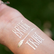 1pcs BRIDE TRIBE Temporary Tattoo bachelorette party accessories Bridesmaid bridal shower wedding decoration party favor