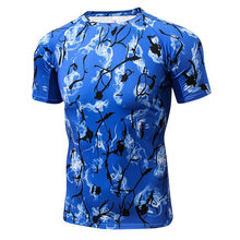 Aipbunny 2017 print Sport Top Fitness men Gym shirt Yoga t shirts Athletic Tops Sports Apparel Sportswear man Workout t-shirt
