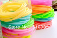 New Arrival Candy Color Silicone Elastic Hair Bands Multipurpose Fashion Hair Ring Hair Clip many colors mixed 20pieces/lot(China)