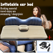 low price good product inflatable mattress Car Bed +Air Pump car inflatable travel bed car bed car travel thickening bed(China)