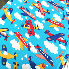 100x110cm Boys Favorite Toy Helicopter Fabric Cotton Plain Sewing Fabric Handmade Material Patchwork Unique Cloth DIY Craft