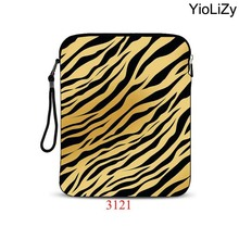 Leopard tablet case 9.7 10.1 inch smart notebook sleeve protective case Ultrabook Cover laptop bag for ipad mini case IP-3121