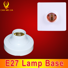 CANMEIJIA Round Base Lamp Bulb Socket Lampholder E27 Square PC Lamp Base E27 Light Holder Fitting E27 Accessories